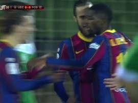 Ousmane Dembélé foi um dos responsáveis pela classificação do Barcelona. DUGOUT