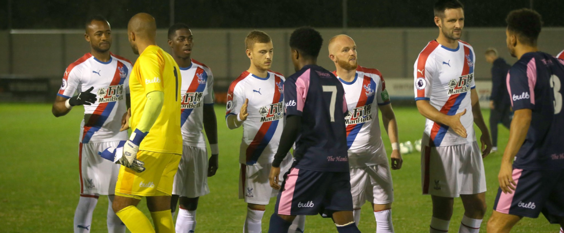 Preston Edwards (yellow) nearly had his car towed. Twitter/CPFC