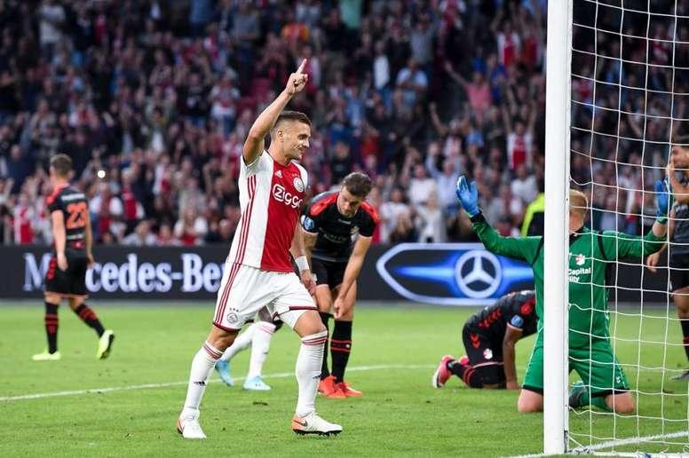 El Ajax goleó al recién ascendido. Twitter/AFCAjax