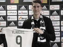 Dusan Vlahovic interesa a la Juventus de Turín. Twitter