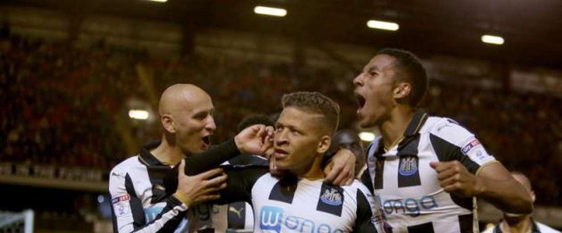 Gouffran anotó el primer tanto de los 'magpies'. AFP