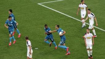 El Zenit remontó con doblete de Dzyuba. Twitter/es_fczenit