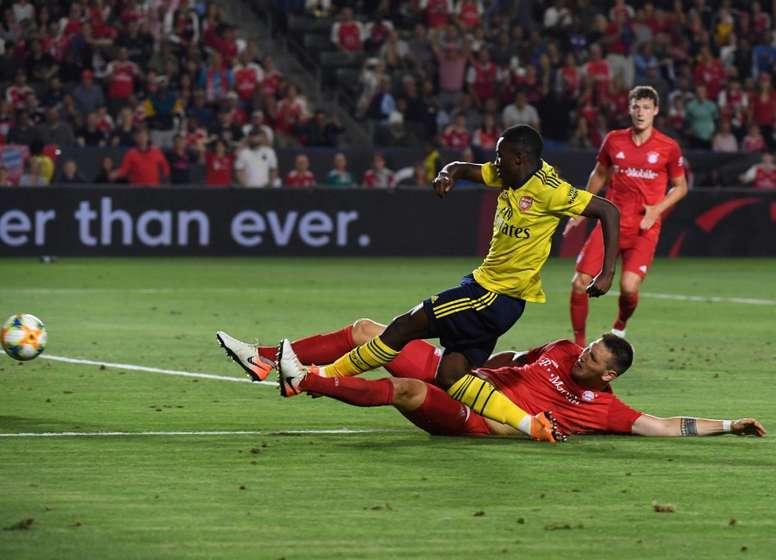 El Arsenal no cederá más a Nketiah lo que resta de curso. AFP