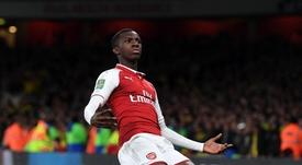 Nketiah was Arsenal's saviour against Norwich. Twitter/Arsenal