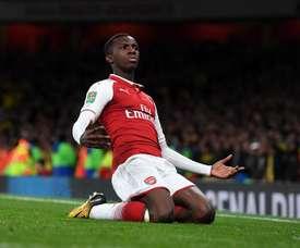 Los dos goles de Nketiah convencieron a los 'gunners'. Twitter/Arsenal