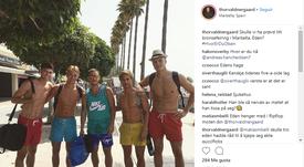 Hazard, 'cazado' en Marbella. Instagram/thorvaldneergaard