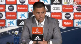 La présentation d'Eden Hazard au Real Madrid. Capture/RealMadrid