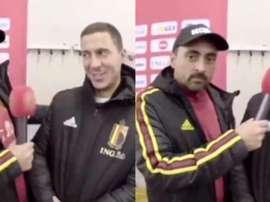 Hazard já sabe falar espanhol. Instagram/belgianreddevils