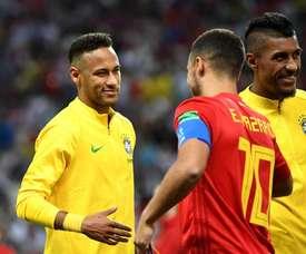 Marcelo sceglie tra Neymar e Hazard. AFP