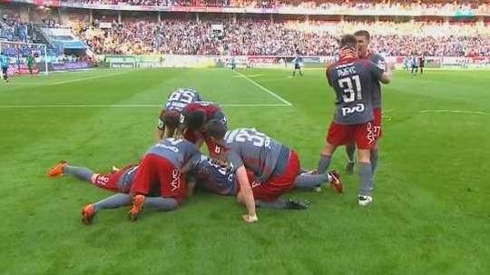 Éder voltou a ser o herói marcando o golo da vitória. Twiiter/ESPN