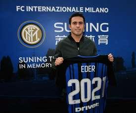 O atacante chegou aos 'nerazzurri' em na época 2015/2016. Twitter/Inter