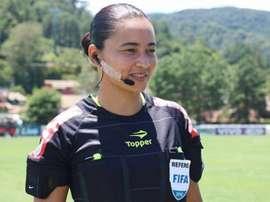 Edina Alves faz história e é alvo de elogios. EFE/Kin Saito/CBF