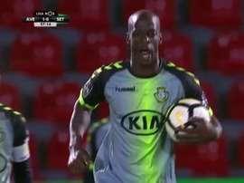 Edinho marcou quatro golos ao Desp. Aves. Twitter/Sport Tv