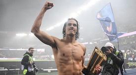 Edinson Cavani, reforço do Manchester United. AFP