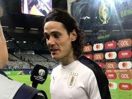 Cavani est ravi du jeu de son équipe. Twitter/Uruguay