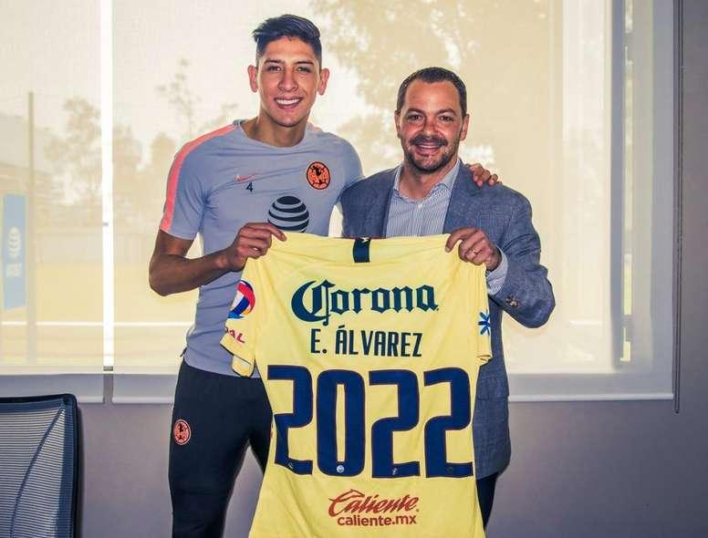 Edson Álvarez renueva hasta 2022. ClubAmerica