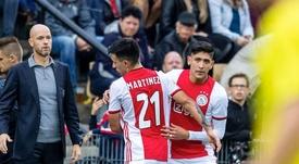 Edson Alvarez commence bien avec l'Ajax. Twitter/Ajax