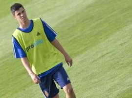 Mañana será oficial el regreso de Edu García tras cuatro temporadas fuera de Real Zaragoza. MARCA