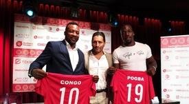 El entrenador del hermano de Pogba será David Vidal. Twitter/racingmurciafc