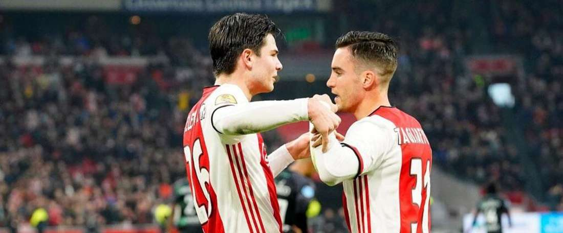 L'Ajax prend un avantage en tête du classement. Twitter/AFCAjax