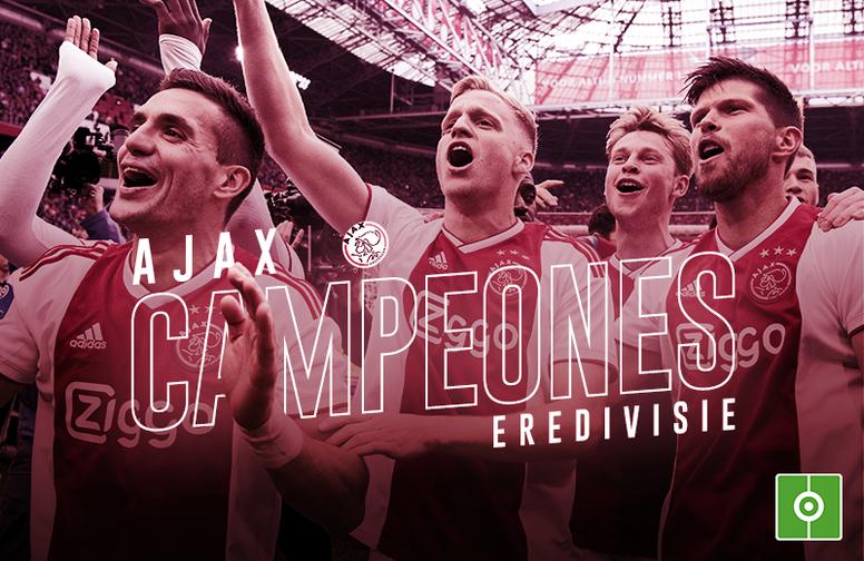 El Ajax, campeón de la Eredivisie 18-19. BeSoccer