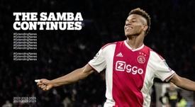 David Neres renova com o Ajax. AFCAjax
