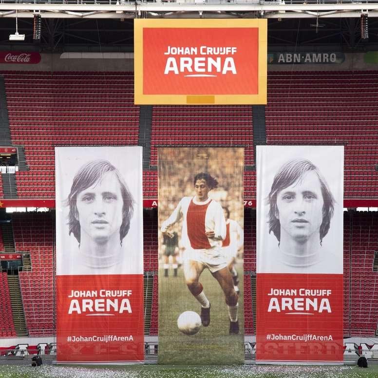 Cruyff está muy presente en Ámsterdam. AFCAjax