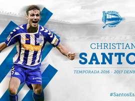 El Alavés presenta a Christian Santos. DeportivoAlavés
