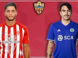Samu de los Reyes y Montero se convierten en los primeros refuerzos del Almería. Twitter/UDAlmería
