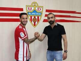 El Almería anunció las incorporaciones de Lazo y Jonathan Silva. UDAlmería
