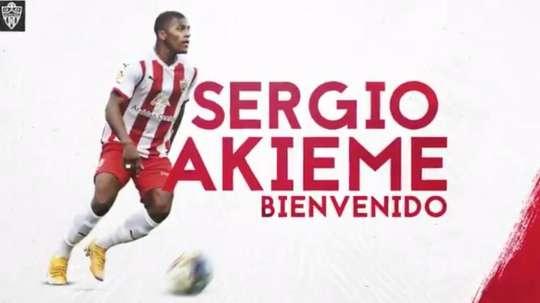 Akieme has moved to Almería. Screenshot/Twitter/U_D_Almeria