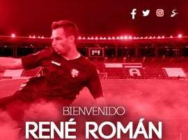 René Román será uno de los refuerzos del Almería bajo palos esta temporada. UDAlmería