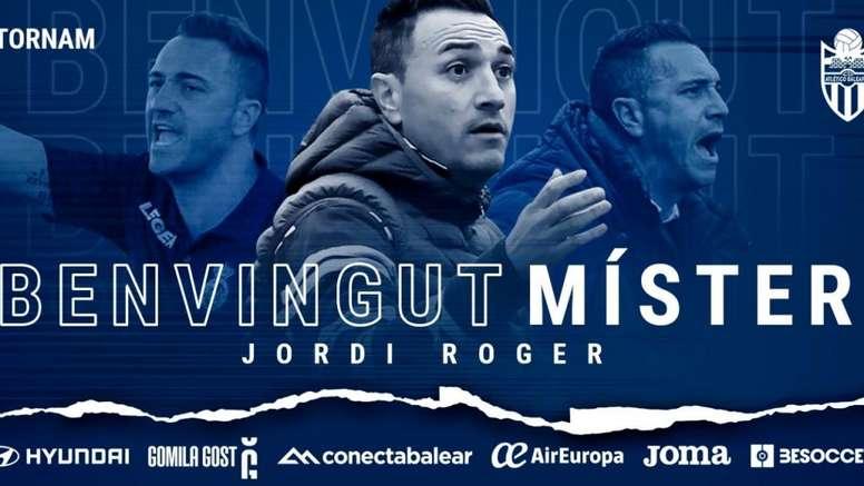 El Atlético Baleares anuncia a Jordi Roger para su banquillo. AtlBaleares