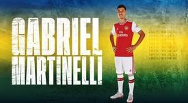 Martinelli ya es 'gunner'. Twitter/Arsenal