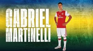 Arsenal assinou com Gabriel Martinelli, do Ituano. Twitter/Arsenal