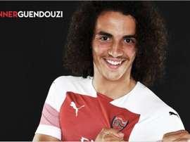 El Arsenal hizo oficial este miércoles el fichaje de Matteo Guendouzi. Arsenal