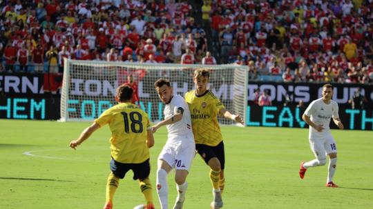 El Arsenal pasó por encima de una Fiorentina con poco pólvora. Twitter/acffiorentina