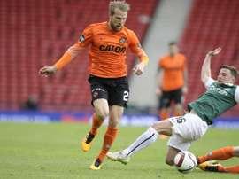 El atacante estonio Henri Anier podría cambiar de equipo. DundeeUnited
