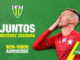 Mateusz Zachara, nuevo jugador del Tondela. CDTondela