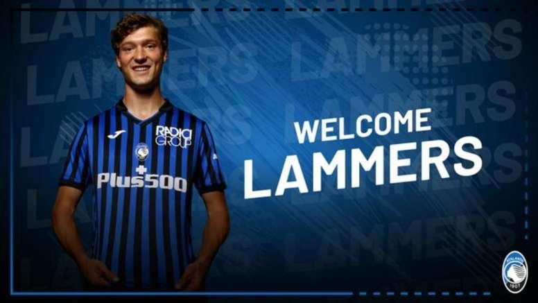 Sam Lammers refuerza la delantera del Atalanta. Twitter/Atalanta_BC