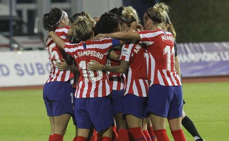 El fútbol femenino fija una nueva reunión para superar la huelga. Twitter/AtletiFemenino