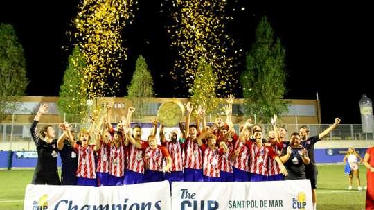 El Atlético B Juvenil se llevó el título ante los 'merengues'. AtletiAcademia