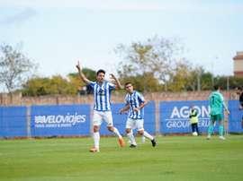 El Atlético Baleares dejó el partido en empate de penalti. Twitter/atleticbalears