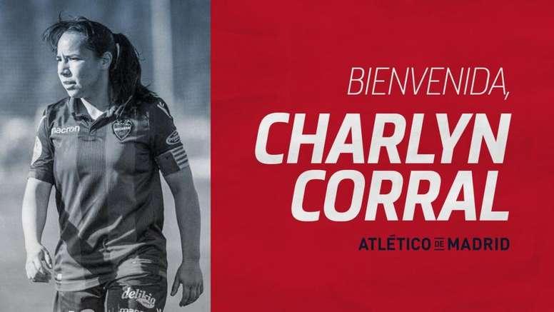 Charlyn Corral ficha por el Atleti. Twitter/AtletiFemenino
