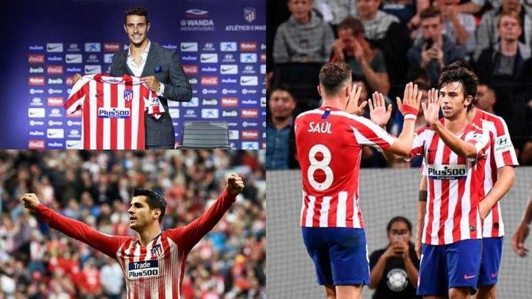 El Atlético de Madrid podría llegar a presentar un once de 635 millones de euros. EFE/BeSoccer