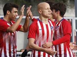 Mollejo renueva con el Atlético de Madrid. AtletiAcademia