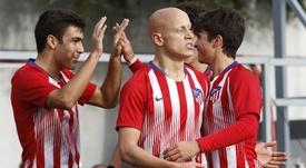 El Atlético ya está en los octavos de la UEFA Youth League. Twitter/AtletiAcademia