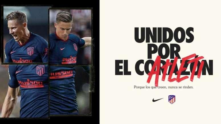 Confira o uniforme de visitante do Atlético. Captura/Atleti