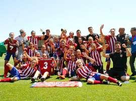 Las jugadoras del Atlético Femenino cierra la gira con un empate. ClubAtléticoMadrid