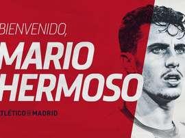 Atlético de Madrid contrata Mario Hermoso. Twitter/Atleti
